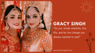 """Go out, break shackles, live life, and be the change you always wanted to see!"" says Gracy Singh aka Santoshi Maa in & TV's Santoshi Maa Sunaye Vrat Kathayein"