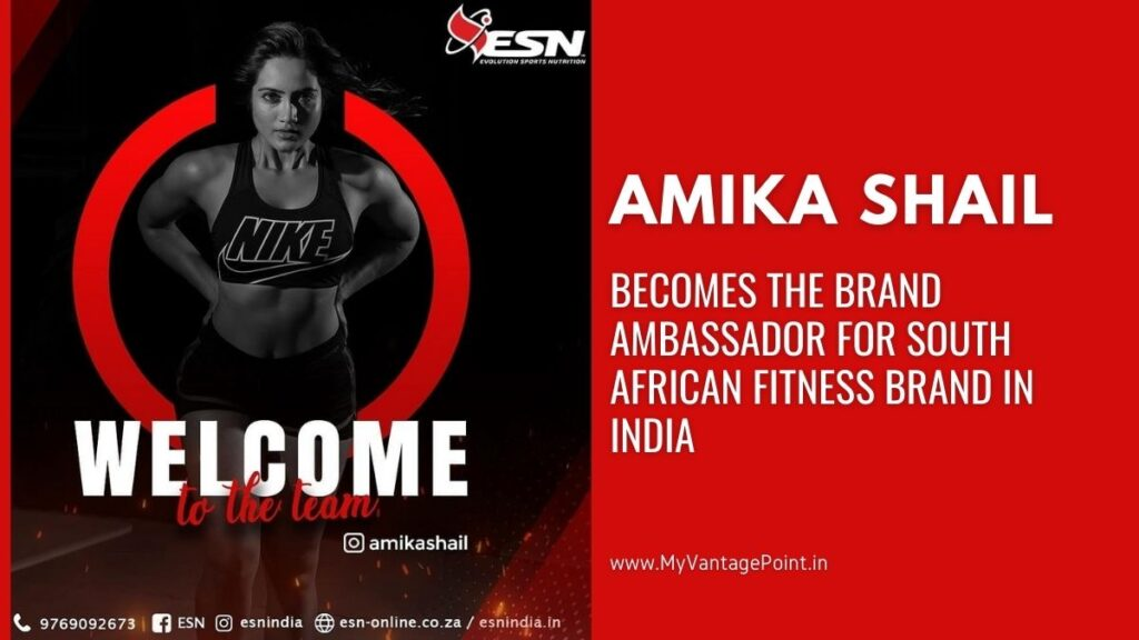 Amika Shail becomes the brand ambassador for South African fitness brand in India